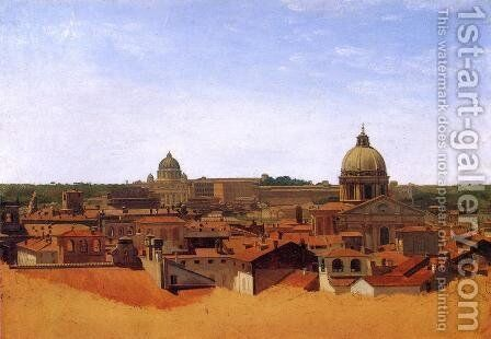 View over the Rooftops of Rome by Adolf Von Heydeck - Reproduction Oil Painting