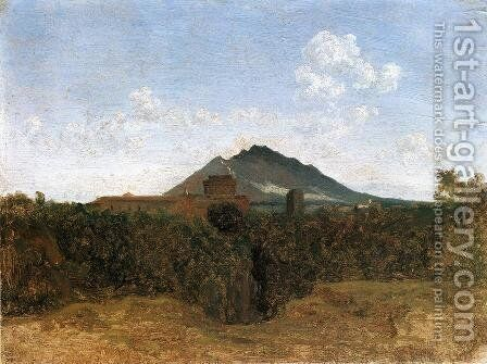 Civita Castellana and Mount Soracte by Jean-Baptiste-Camille Corot - Reproduction Oil Painting