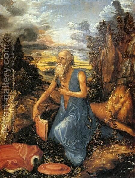 St. Jerome in the Wilderness by Albrecht Durer - Reproduction Oil Painting