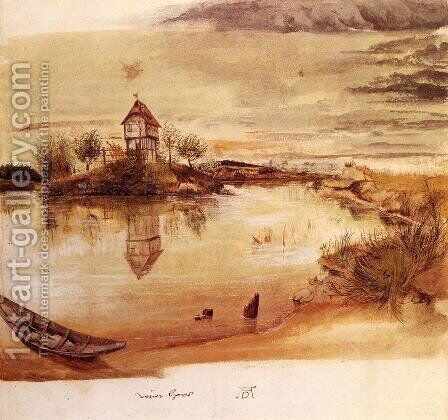House by a Pond by Albrecht Durer - Reproduction Oil Painting
