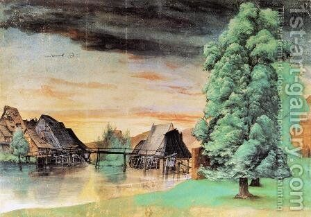 Willow Mill by Albrecht Durer - Reproduction Oil Painting