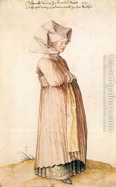 Nuremberg Woman Dressed for Church by Albrecht Durer - Reproduction Oil Painting