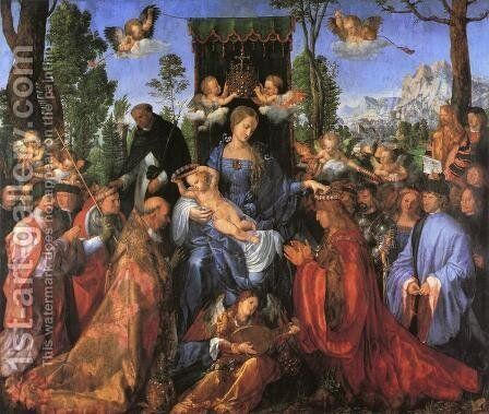 The Altarpiece of the Rose Garlands by Albrecht Durer - Reproduction Oil Painting
