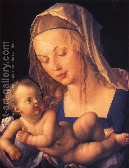 Virgin and Child with Half a Pear by Albrecht Durer - Reproduction Oil Painting