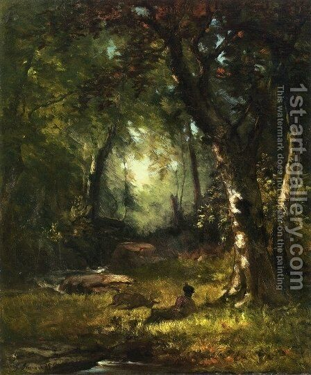 The Huntsman by George Inness - Reproduction Oil Painting