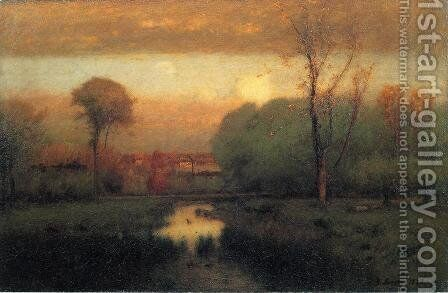 Autumn Gold by George Inness - Reproduction Oil Painting