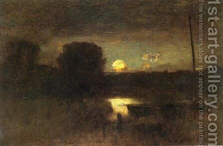 Moonrise by George Inness - Reproduction Oil Painting