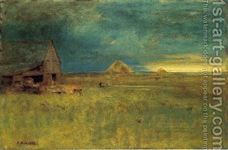 The Lone Farm, Nantucket by George Inness - Reproduction Oil Painting