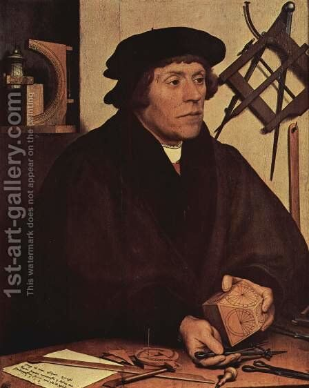 Portrait of Nikolaus Kratzer by Hans, the Younger Holbein - Reproduction Oil Painting