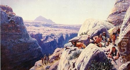 Nest of Rattlesnakes by Henry Farny - Reproduction Oil Painting