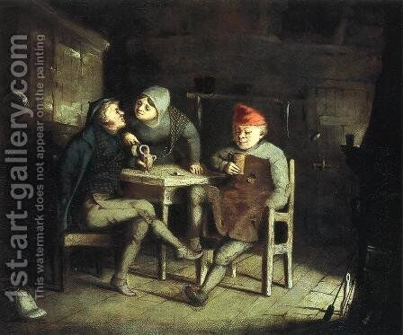 Tavern Scene by David Gilmour Blythe - Reproduction Oil Painting