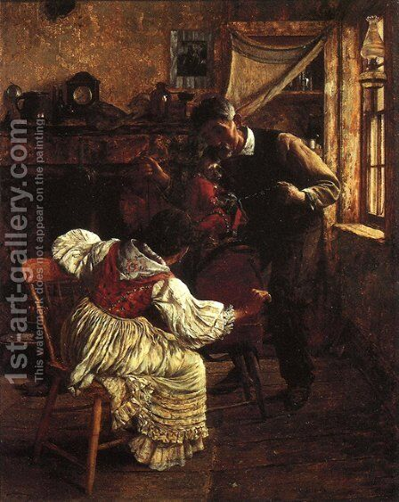 The Organ Grinder by Charles Xavier Harris - Reproduction Oil Painting