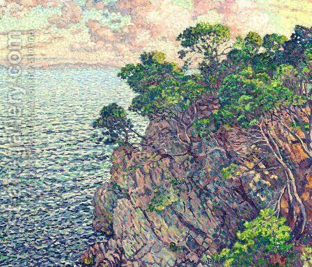 La Pointe du Rossignol (Cap Layet) by Theo van Rysselberghe - Reproduction Oil Painting