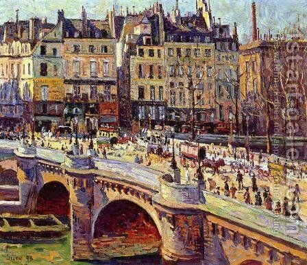 The Quai Conti, Daytime by Maximilien Luce - Reproduction Oil Painting
