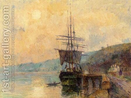 The Seine near Rouen by Albert Lebourg - Reproduction Oil Painting
