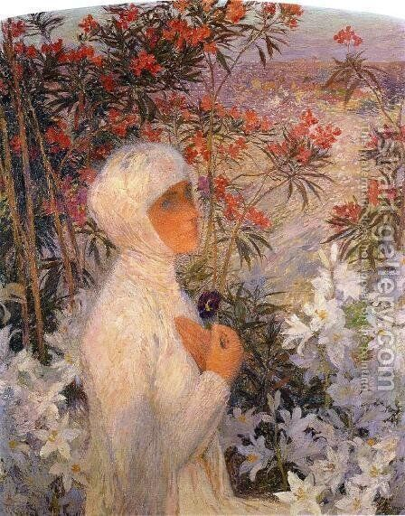 The Poetess by Henri Martin - Reproduction Oil Painting