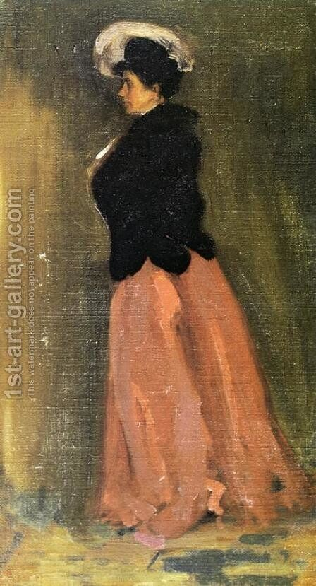 "Portrait of Rosalie Fitzpatrick ""Riz"" by Alfred Henry Maurer - Reproduction Oil Painting"