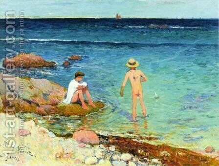 Bathers at Gavres by Henri Moret - Reproduction Oil Painting