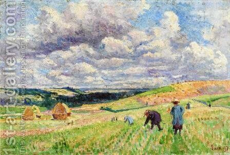 Children in the Fields by Maximilien Luce - Reproduction Oil Painting