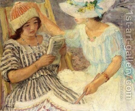 Marthe and Nono by Henri Lebasque - Reproduction Oil Painting