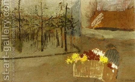 The Florist by Edouard  (Jean-Edouard) Vuillard - Reproduction Oil Painting