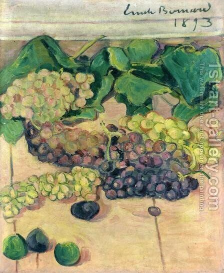 Still Life with Grapes by Emile Bernard - Reproduction Oil Painting