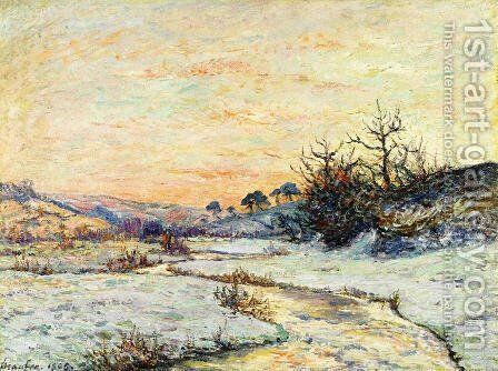 Morning in Winter, Vallee du Ris, Douardenez by Maxime Maufra - Reproduction Oil Painting