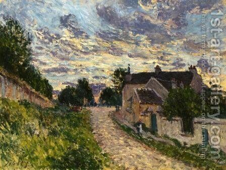 A Path in Louveciennes by Alfred Sisley - Reproduction Oil Painting