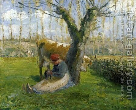 The Cowherd II by Camille Pissarro - Reproduction Oil Painting