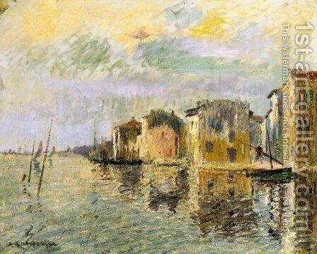 Les Martigues by Gustave Loiseau - Reproduction Oil Painting