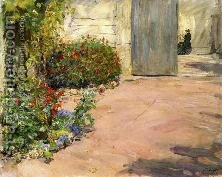 Summer House Garden by Max Slevogt - Reproduction Oil Painting