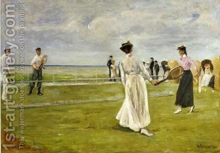 Tennis Game by the Sea by Max Liebermann - Reproduction Oil Painting