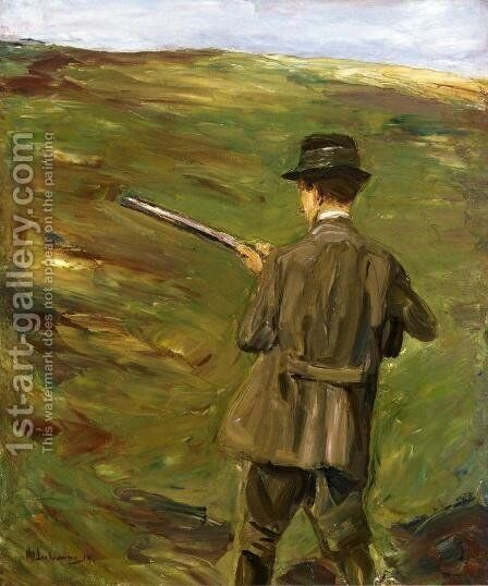 A Hunter in the Dunes by Max Liebermann - Reproduction Oil Painting