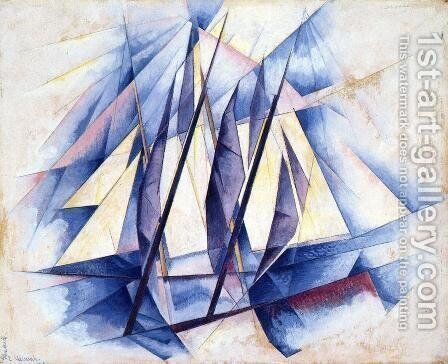 Sail: In Two Movements by Charles Demuth - Reproduction Oil Painting