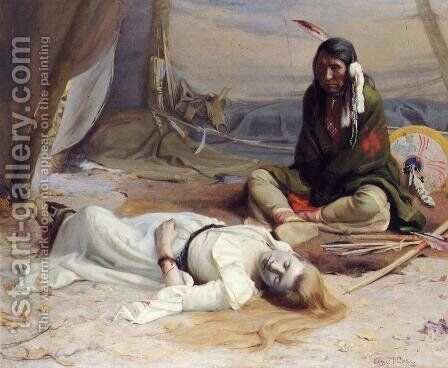 The Captive by Eanger Irving Couse - Reproduction Oil Painting