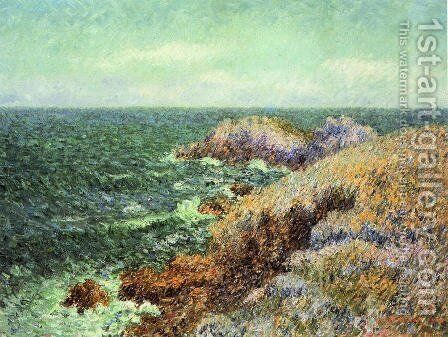 The Rocks of Saint-Lunaire by Gustave Loiseau - Reproduction Oil Painting
