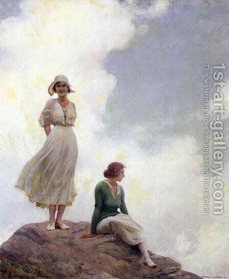 The Boulder by Charles Curran - Reproduction Oil Painting