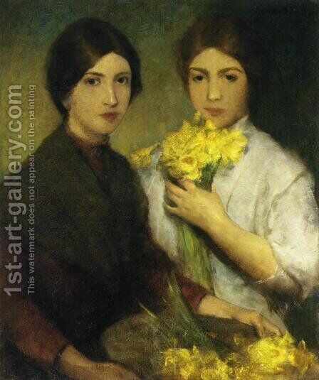 Daffodils by Charles Hawthorne - Reproduction Oil Painting