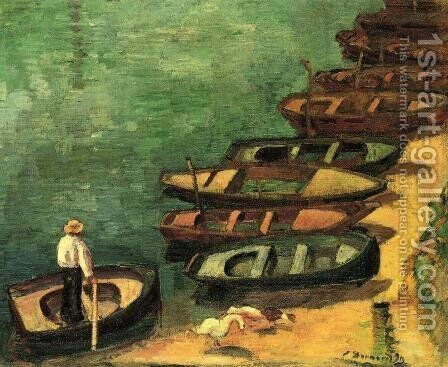 Boats at Bont-Aven by Emile Bernard - Reproduction Oil Painting
