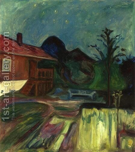 Summer Night, Asgardstrand by Edvard Munch - Reproduction Oil Painting