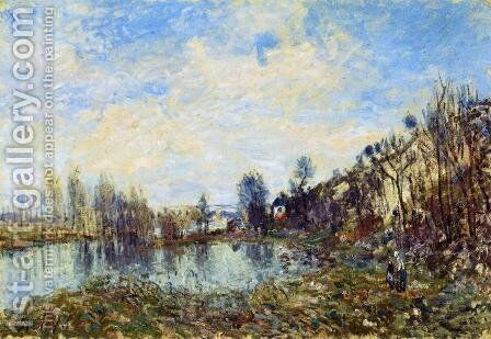 Flooded Field by Alfred Sisley - Reproduction Oil Painting