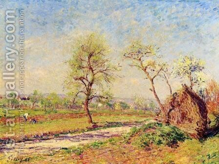 Road at Veneux by Alfred Sisley - Reproduction Oil Painting