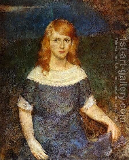 Maureen by Charles Hawthorne - Reproduction Oil Painting