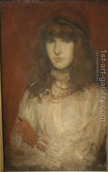 The Red Glove by James Abbott McNeill Whistler - Reproduction Oil Painting