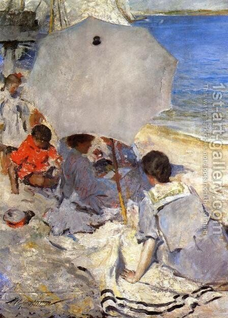 By the Sea by Charles Hawthorne - Reproduction Oil Painting