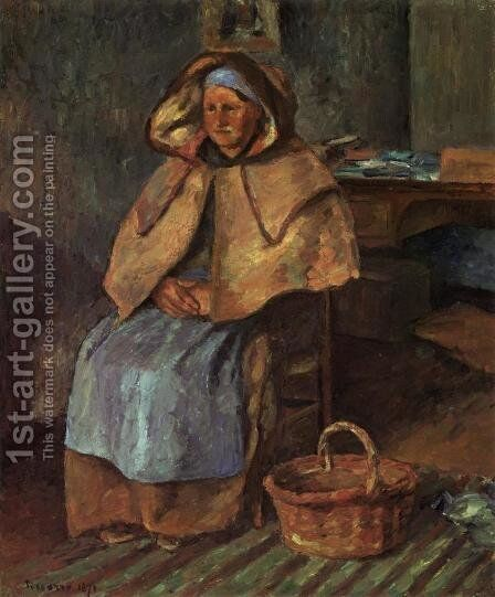 La Mere Gaspard by Camille Pissarro - Reproduction Oil Painting