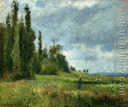 La Cote des Groettes, Pontoise, Gray Weather by Camille Pissarro - Reproduction Oil Painting