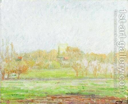 Fog in Eragny by Camille Pissarro - Reproduction Oil Painting