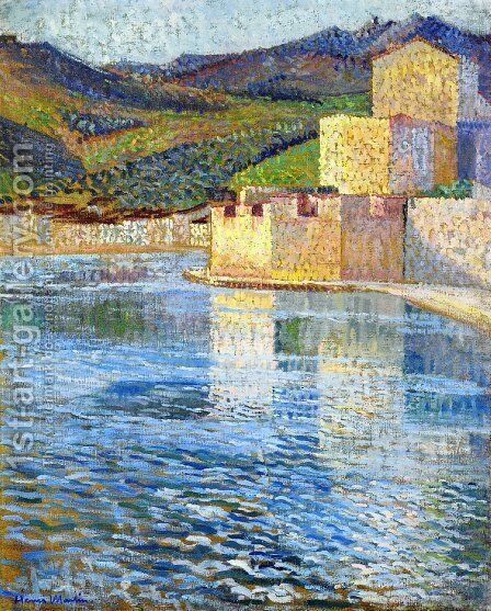 Ramparts at Collioure by Henri Martin - Reproduction Oil Painting