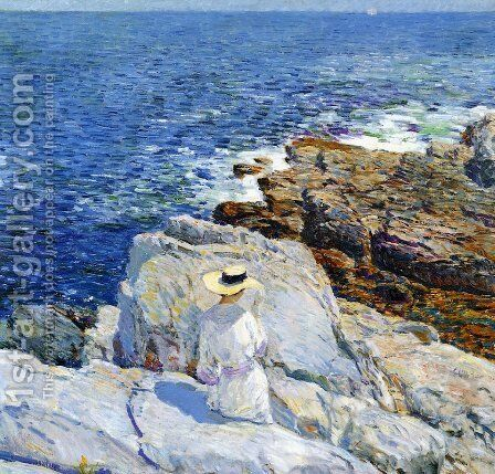 The South Ledges, Appledore by Frederick Childe Hassam - Reproduction Oil Painting